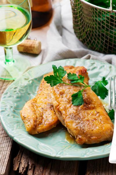 Chicken  brest in Marsala sauce Stock photo © zoryanchik