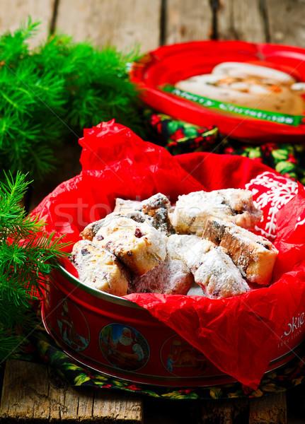 Stockfoto: Christmas · rustiek · stijl · selectieve · aandacht · zoete · suiker