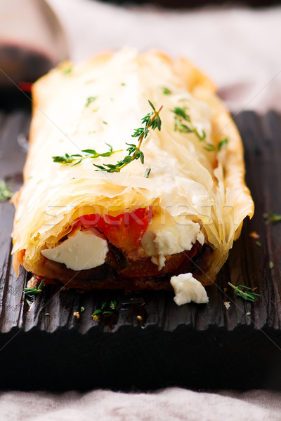 Roasted vegetables  strudel .selective focus.  Stock photo © zoryanchik
