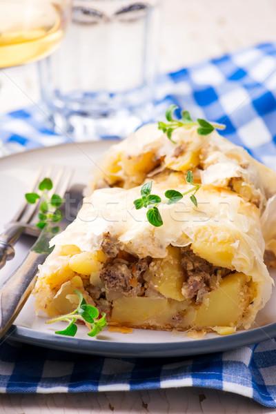 Foto stock: Batatas · foco · foco · estilo · rústico · fundo