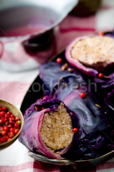 капуста красный мяса розовый перец Сток-фото © zoryanchik