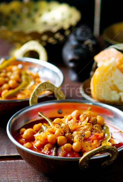 chick-pea stewed with haricot and a tomato on Lebanese  Stock photo © zoryanchik