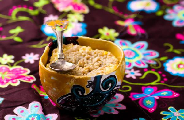 Bögre torta előkészített mikró vízszintes engedély Stock fotó © zoryanchik