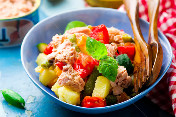 Genoa Salad with Tuna Stock photo © zoryanchik