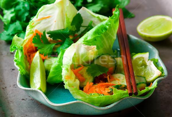 Tajska ogórek marchew Sałatka zdrowia asian Zdjęcia stock © zoryanchik