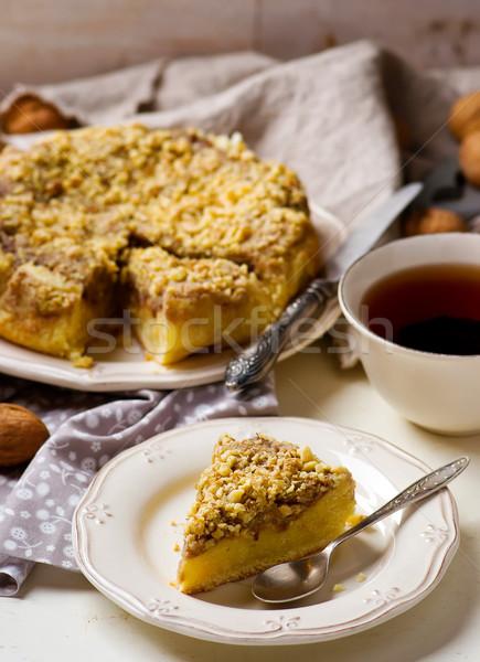 Datas bolo migalha foco comida casa Foto stock © zoryanchik