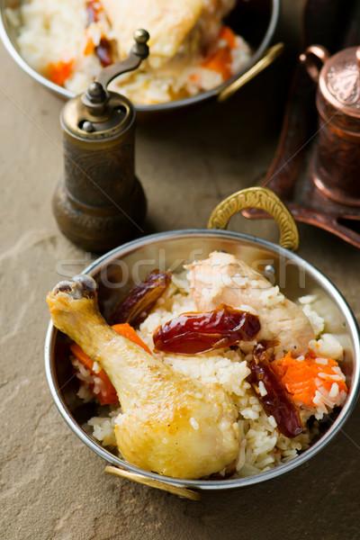 куриные тыква медь чаши избирательный подход продовольствие Сток-фото © zoryanchik
