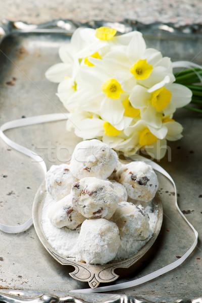 Mexican ślub słodkie cookie cookie brązowy Zdjęcia stock © zoryanchik