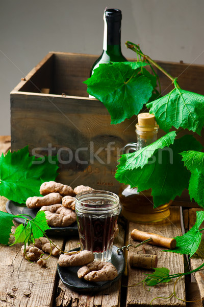 biscotti di vino.style rustic. Stock photo © zoryanchik