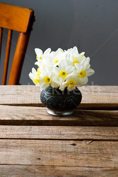 Bouquet vintage rustico fiore primavera natura Foto d'archivio © zoryanchik