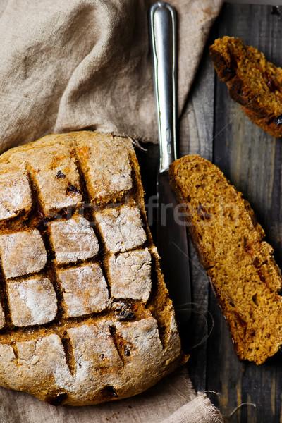 home-made bread with bran  Stock photo © zoryanchik