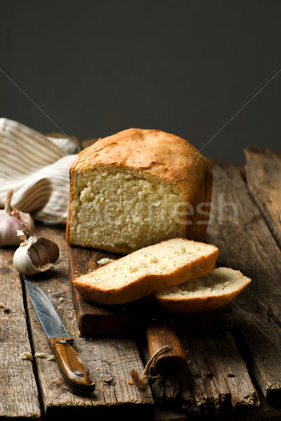 the loaf of garlic bread .style rustic Stock photo © zoryanchik