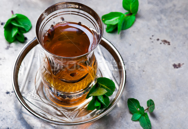 tea with mint in  Stock photo © zoryanchik