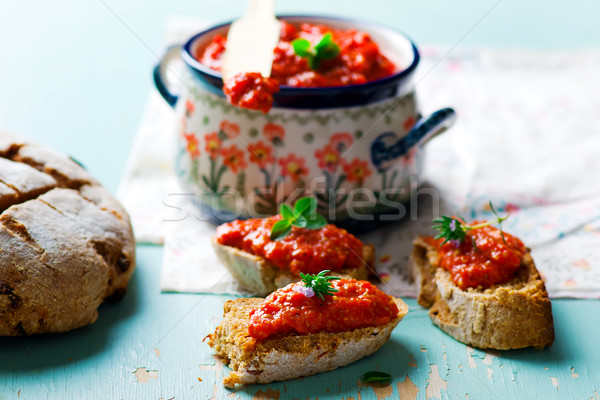 paste from baked sweet pepper  Stock photo © zoryanchik