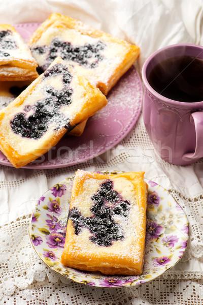 Blueberry Cream Cheese Danishes.  Stock photo © zoryanchik