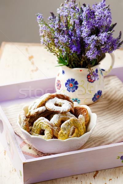 мак семени деревенский продовольствие завтрак белый Сток-фото © zoryanchik