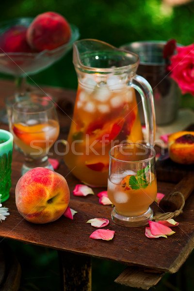 Elderflower, Peach sangria. Stock photo © zoryanchik