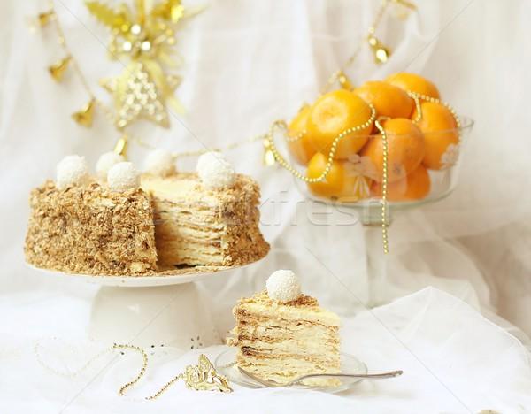 New Year's pie ' a napoleon '  Stock photo © zoryanchik