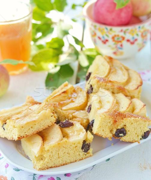 яблоки пирог домашний изюм лет плодов Сток-фото © zoryanchik
