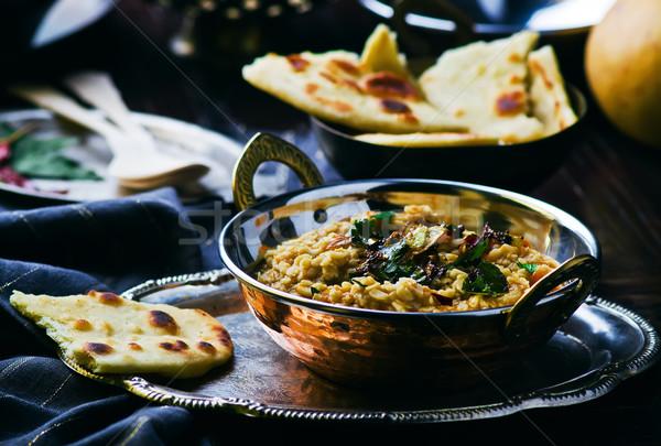 тыква индийская кухня избирательный подход хлеб белый индийской Сток-фото © zoryanchik