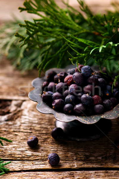 grains and branches of a juniper  Stock photo © zoryanchik