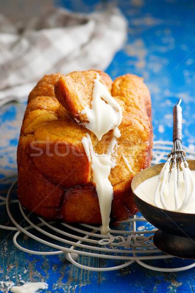 Stock photo: bread machine pumpkin monkey bread.