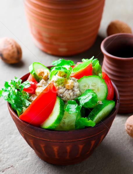 vegetable walnut sauce salad. Georgian cuisine.  Stock photo © zoryanchik