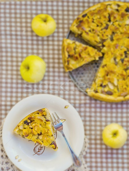 apple sour cream pie  Stock photo © zoryanchik