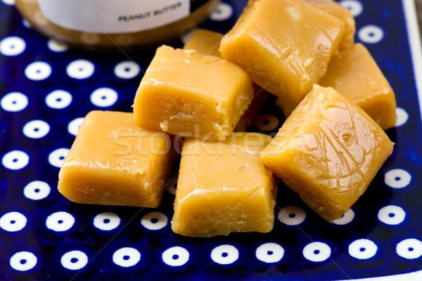 Mogyoróvaj szelektív fókusz csokoládé háttér édes cukor Stock fotó © zoryanchik