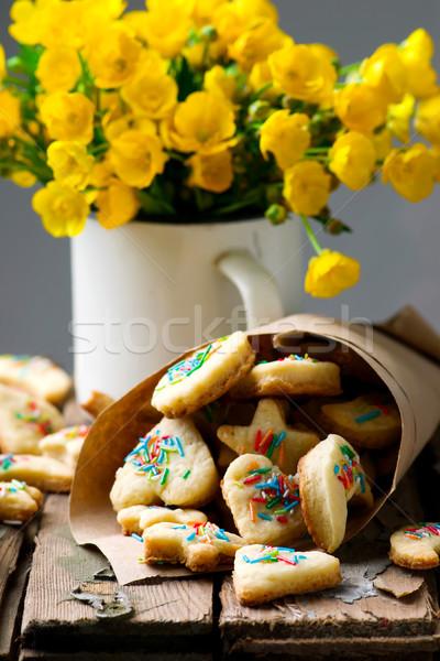 śmietana szybko vintage żywności śniadanie biały Zdjęcia stock © zoryanchik