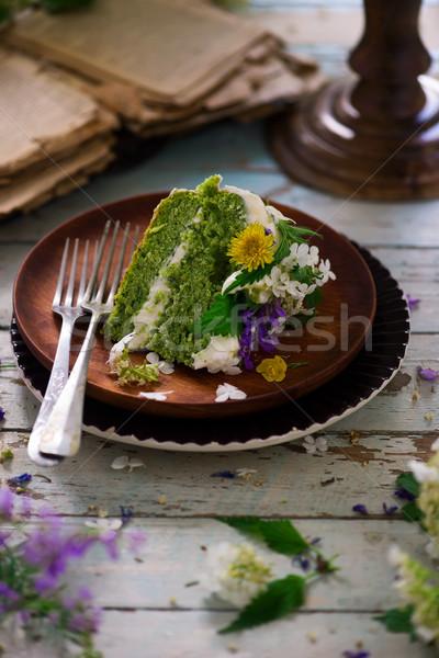 Limone torta raccolta ciliegina alimentare Foto d'archivio © zoryanchik