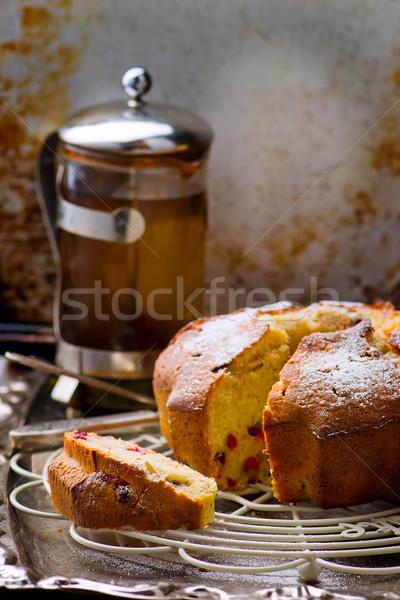 Kuchen Stil rustikal selektiven Fokus Essen Stock foto © zoryanchik