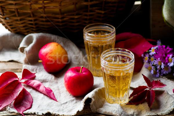 apple cider in vintage glass glasses Stock photo © zoryanchik