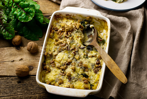 gratin from a swiss chard with cheese and walnut.  Stock photo © zoryanchik