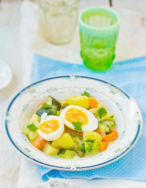 stewed vegetables  with egg Stock photo © zoryanchik