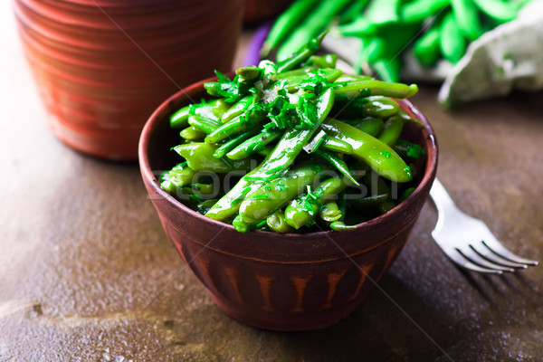 the Georgian salad from green beans  Stock photo © zoryanchik