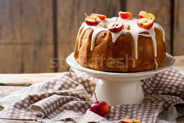 Fresh apples cake Stock photo © zoryanchik