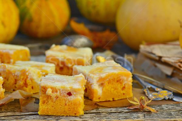 カボチャ パイ クリーム チーズ 秋 食品 ストックフォト © zoryanchik