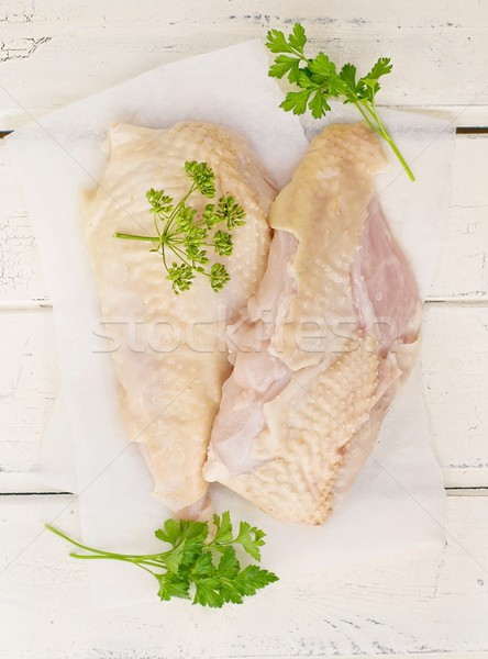 fresh, crude farmer chicken breast Stock photo © zoryanchik
