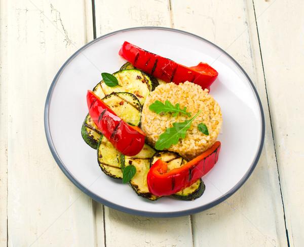 Grelhado legumes saudável comida vegetariana comida topo Foto stock © zoryanchik