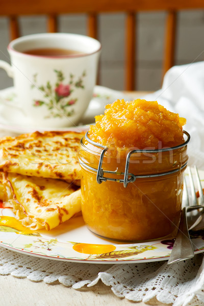 Orange miel confiture verre accent fruits Photo stock © zoryanchik