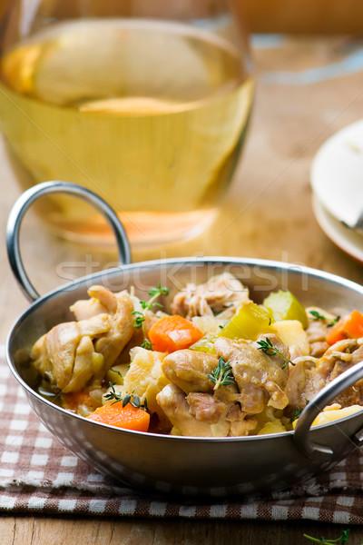 Pollo raíz vegetales cocina cena carne Foto stock © zoryanchik