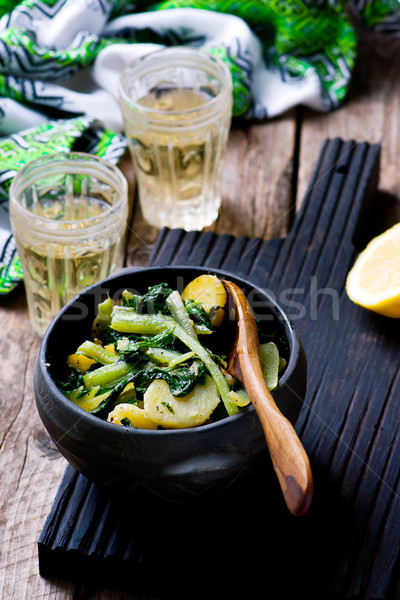 SWISS CHARD WITH POTATOES  BLITVA Stock photo © zoryanchik