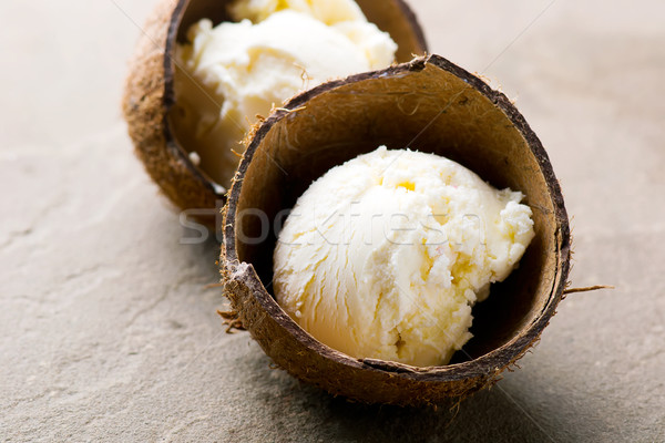 Coco helado Shell atención selectiva alimentos verano Foto stock © zoryanchik