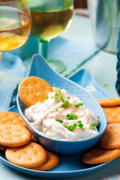 French onion dip with crackers. Stock photo © zoryanchik