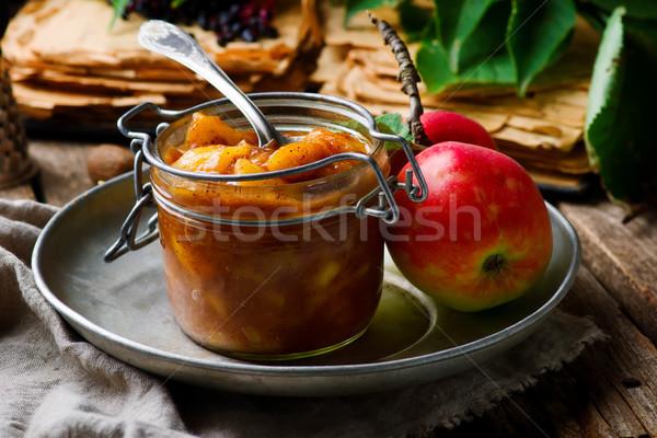 Homemade Caramel  apples pie filling Stock photo © zoryanchik