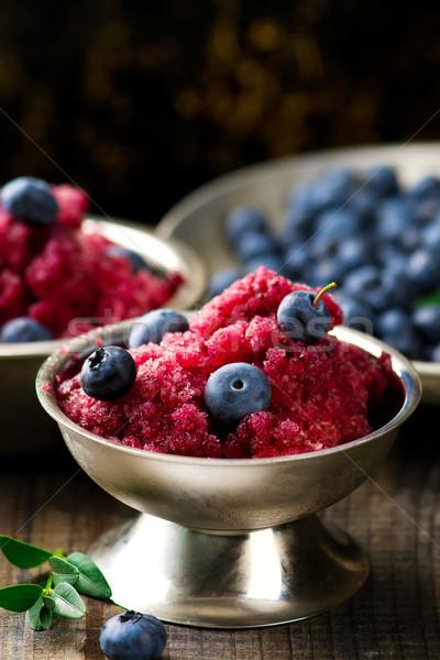sorbet from bilberry  Stock photo © zoryanchik