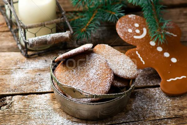 buckwheat Christmas cookies Stock photo © zoryanchik
