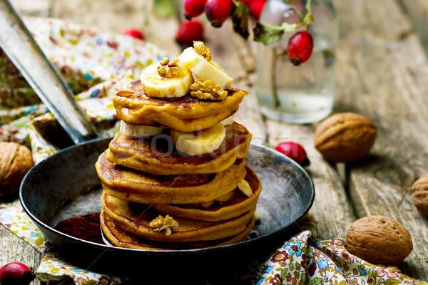 Pumpkin pancakes  Stock photo © zoryanchik