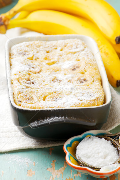 microwave banana pudding Stock photo © zoryanchik